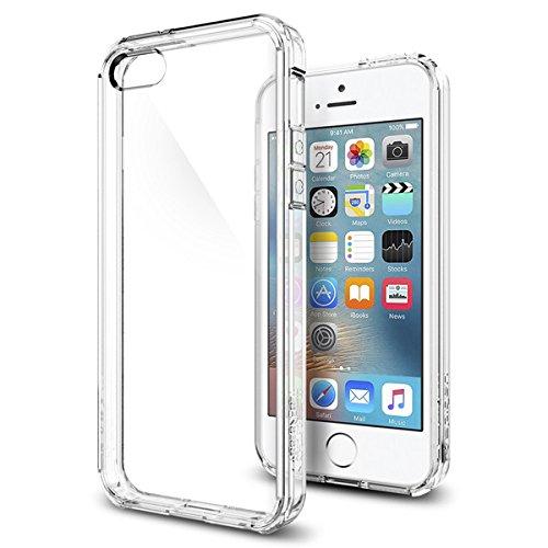 【Spigen】 iPhone SE ケース, ウルトラ・ハイブリッド [ 米軍MIL規格取得 落下 衝撃吸収 ] [ クリア バンパー ] アイフォン se / 5s / 5 用 カバー (クリスタル・クリア)