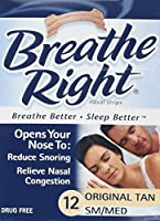Breathe Right Nasal Strips, Tan, Small/Medium, 12 Count by Breathe Right