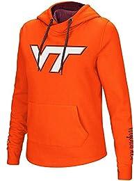レディースNCAA Virginia Tech Hokiesクロスオーバーネックパーカーチームカラー