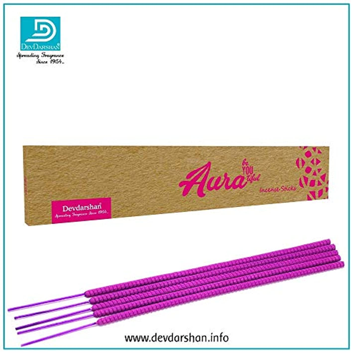 壁紙粉砕する欺くDevdarshan Aura Exotic 16 Inch Incense Sticks with 2 Hours Burning (2 Packs of 5 Stick Each)