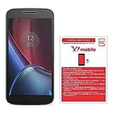 Motorola(モトローラ) Moto G4 Plus SIMフリースマートフォン ブラック 【国内正規代理店】 &ワイモバイル(Y!mobile) マイクロSIM スターターキット