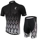 TINYPONY®  サイクルジャージ 夏用半袖 サイクリング サイクルウェア 上下セット (XL)
