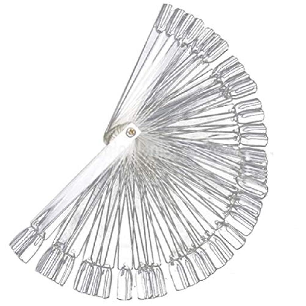 汚れたストレス触覚Flybloom 50個のセクター偽のマニキュア見本ネイルアートのヒントディスプレイ実践スティックと初心者、白