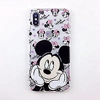 iPhone かわいい ディズニー ケース ソフトケース ディズニーキャラクター レトロスタンダード Mickey Minnie保護カバーブラケット付きiPhoneミッキーマウスミニーカバー (iPhone 6/6s, Mickey)