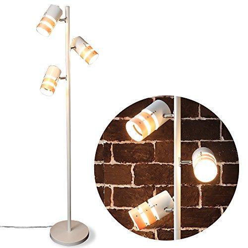 LOWYA 照明 間接照明 スタンドライト スポットライト LED対応 3灯 ホワイト/ナチュラル