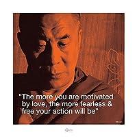 Dalai Lama û Motivated by Love Spiritual宗教プリントポスター15.75X 15.75