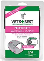 Vet's Best Comfort-Fit Washable Dog Female Diapers Wetness Indicator Small /MD