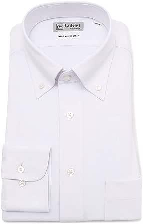 [ハルヤマ] i-shirt 完全ノーアイロン ストレッチ 速乾 長袖 アイシャツ ワイシャツ メンズ オフホワイト レギュラーサイズ 長袖ボタンダウン M151190023 4L88(首回り47cm×裄丈88cm)-(日本サイズ4L相当)