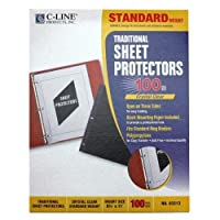 CLI03213 - C-line Traditional Polypropylene Sheet Protector by C-Line