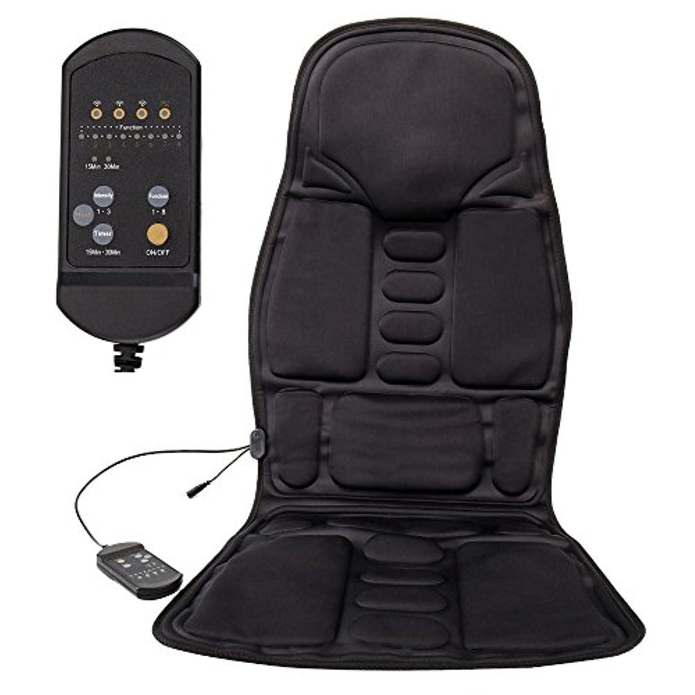 LoveStory マッサージシート シートマッサージャー カーシートカバー マッサージ器 座椅子用 高品質PUレザー製車載用ツインバードマッサージシート ヒーターマッサージ 5機能5もみ玉付き 汎用 椅子や座椅子用 持...