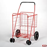 Sports Equipment Best Deals - Rolling Shopping Cart(Red), Fishing Cart, Laundry Cart,Sport Equipment Mover by ATEpro [並行輸入品]