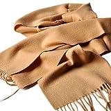 クラシック 無地 チェック柄 厚い ウール カシミヤ カシミア ビジネス メンズ レディース スカーフ マフラー ブラウン
