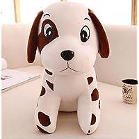 Pinjewelry ホームデコレーション ソフトトイ 可愛い 20cm 抱きしめられた犬 柔らかいおもちゃ ぬいぐるみ ダルメシアン人形 子供 誕生日ギフト ブラウン