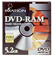 Imation DVD - RAM、imn41134 5.2 GB、両面Rewritable ( Single )