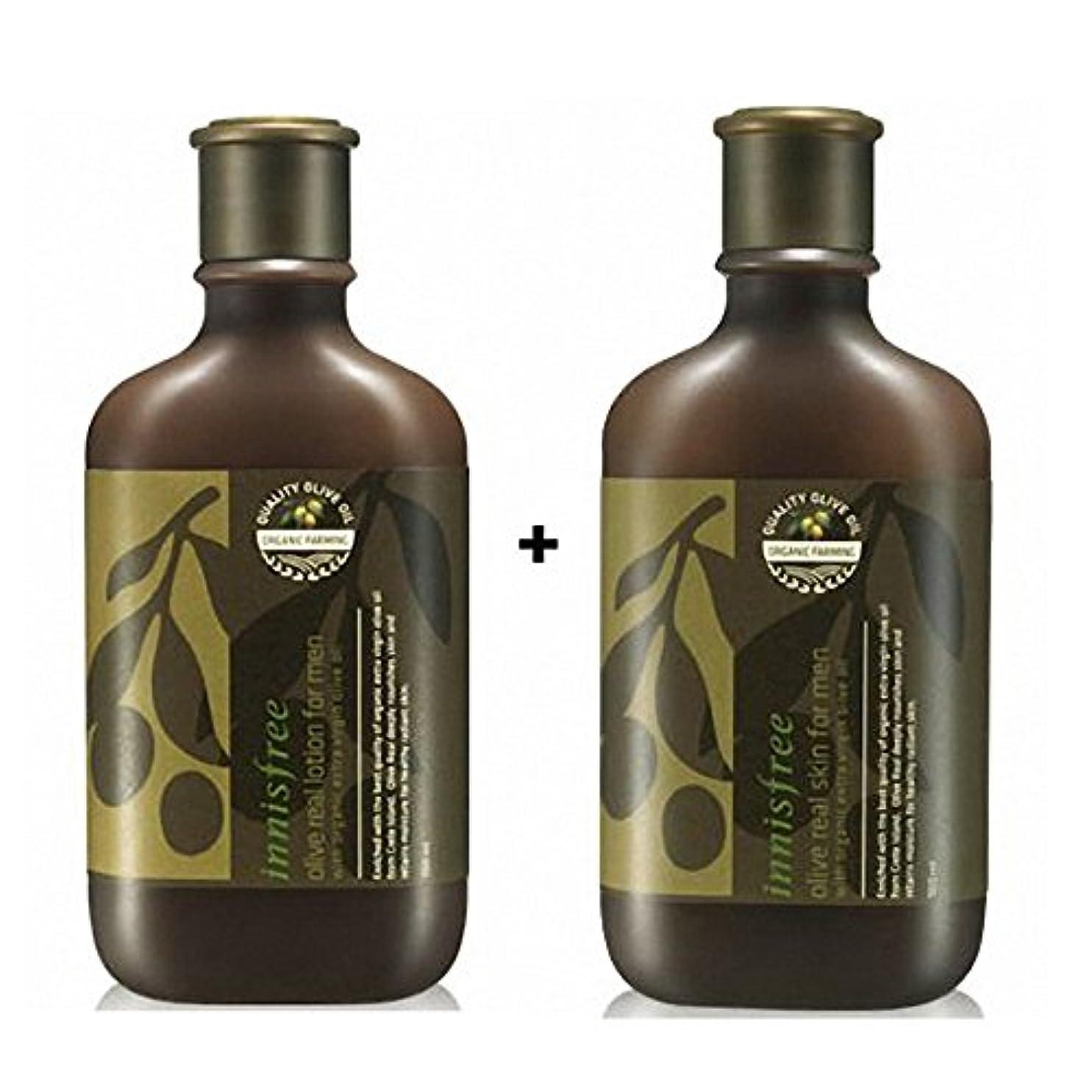 眠り上へレベル[イニスフリー] Innisfree オリーブリアルローション.スキンフォアマンセット(150ml+150ml) Innisfree Olive Real Lotion.Skin Set  For Men(150ml+150ml...