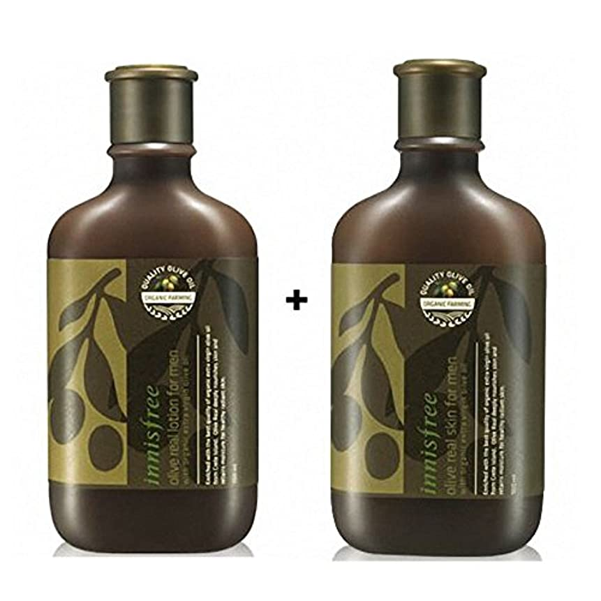 厚さ才能のある硬い[イニスフリー] Innisfree オリーブリアルローション.スキンフォアマンセット(150ml+150ml) Innisfree Olive Real Lotion.Skin Set  For Men(150ml+150ml...