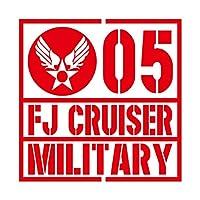 ミリタリー FJ CRUISER FJクルーザー カッティング ステッカー レッド 赤