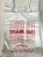レッドThank You TシャツGrocery Bags 12x 7x 2217Mic 0.67Mil 440pcs / CS