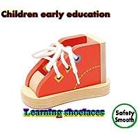 おもちゃ子供の靴紐/ Practice wearingロープと靴紐/パズル早期教育玩具