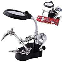 [ML ツール]ML TOOLS 60% OFF: 3.5x12x 3rd Helping Hand Magnifying Soldering LED Iron Stand Lens Magnifier 8367 [並行輸入品]