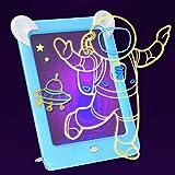 Tichan マジックパッド デラックス ライトアップ 透明感あるディスカバリー キッズネオン LED グロー描画ボード 3D 魔法 デッサンのパッド 頭脳開発のおもちゃ (B)
