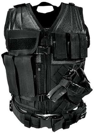 NcStar タクティカルベスト レギュラーTactical Vest Black  Swat Police  並行輸入品
