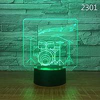 NACOLA 3Dナイトライト 7色 素晴らしい光学イリュージョン LEDライト テーブルデスクランプ ホームデコレーション LEDZMD351