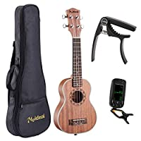 GU GU Meideal MUH-21Professional 21 Acoustic Soprano Ukulele Sapele With CapoTuner and Gig Bag 1 Set [並行輸入品]