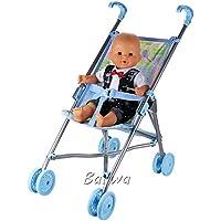 「Barwawa」メルちゃん用折りたたみ式バギー ごっこ遊び おもちゃ ハッピーキュート 人形用ベビーカー うさももドール おせわパーツ かわいい おせわベビーカー ピンク 子供ギフト 新年プレゼント(ピンク)