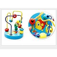 Fishinnen クリエイティブクラフトトイ 木製教育玩具 パズルラウンドビーズ