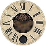 Nekovan 16インチアンティークの壁時計、ギアクロック創造的な壁時計クラフトギア振り子 (色 : 1 pack)