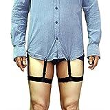 (アイム)iiniim シャツガーター ベルト クリップ 調節可能 シワ/外漏れ防止 フォーマルアクセサリー シャツベルト サスペンダー シャツをきれいにする ガーターベルト式 しわ防止 シャツがズボンから出ず シャツとスーツなど対応 男女兼用 フォーマル/就職/ビジネス タイプB フリーサイズ