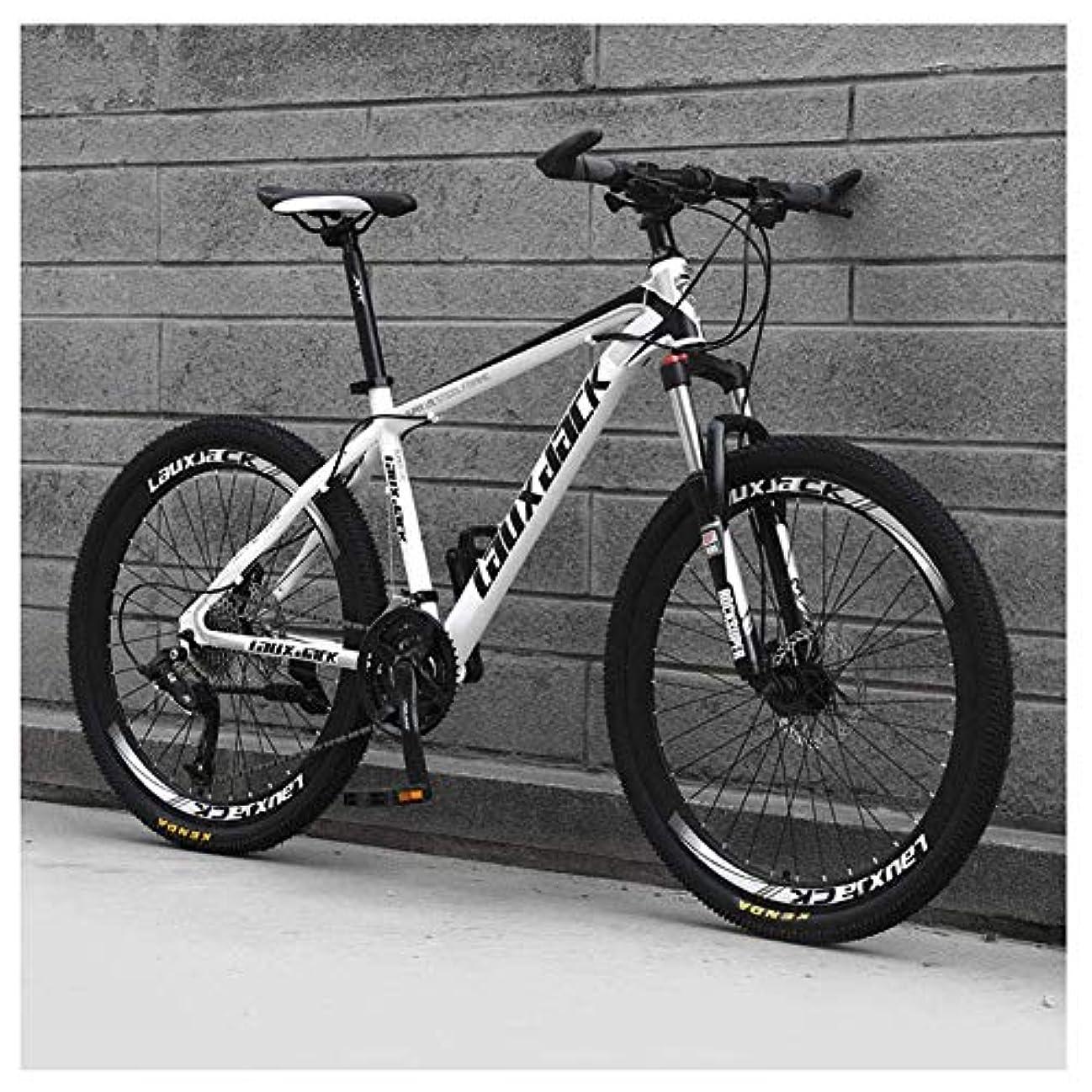海外であごひげなだめるYing-CC 自転車 アウトドアスポーツマウンテンバイク21スピード26インチのダブルディスクブレーキサスペンションフォークサスペンション滑り止めバイク、ホワイト 屋外スポーツ
