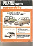 フィラ Revue Technique Automobile, n°481 : Autobianchi (Lancia) : Y 10 et Y 10 4 WD : Fire, Fila, Touring, Turbo