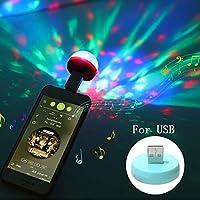 IEnkidu モバイルUSBステージライト ミニLEDクリスタルマジックボール カラフルサウンドコントロールライト