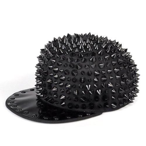 LOCOMO Hedgehog Extraリベットスタッドスパイク野球キャップブラックとげffh044blk
