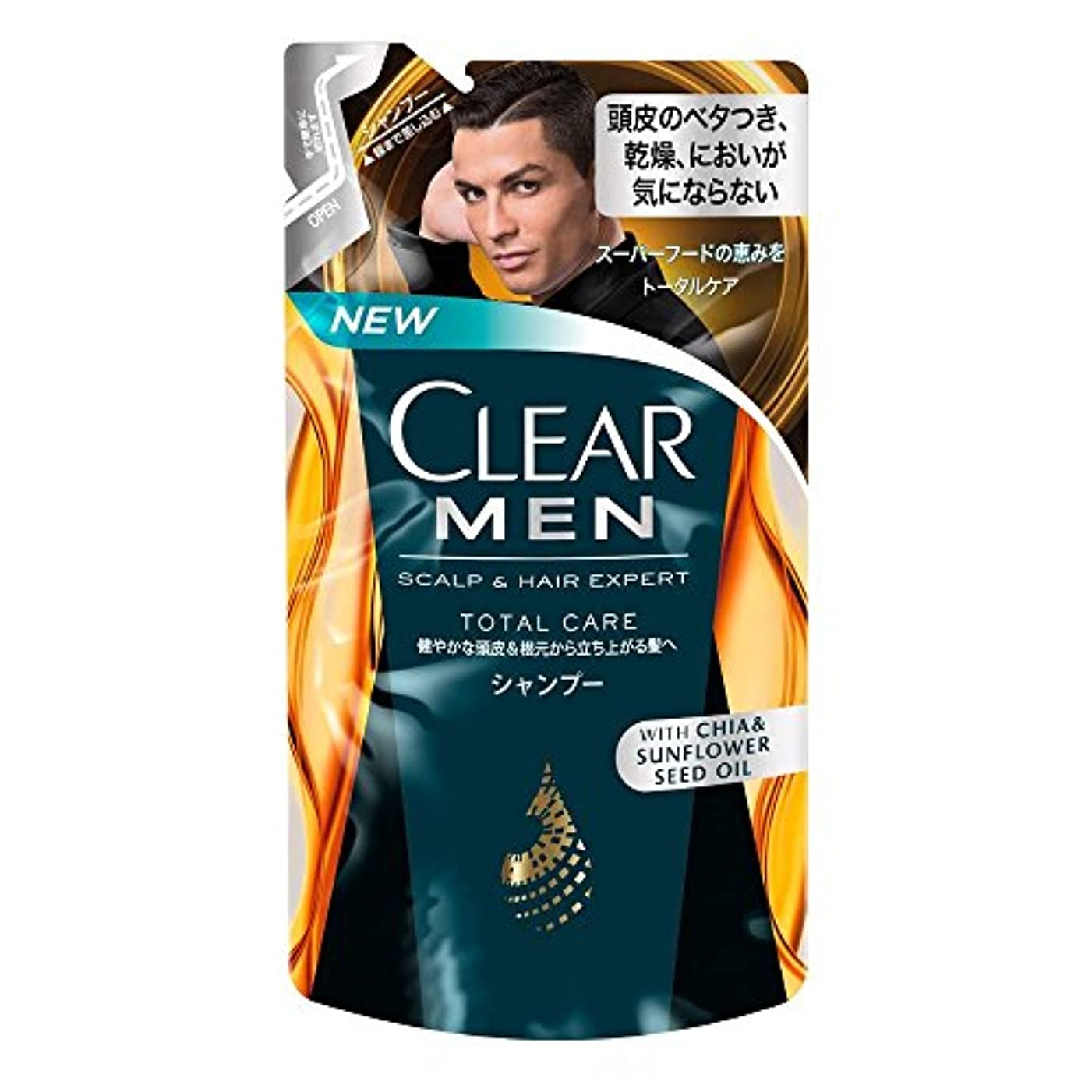 ドルよろしく休戦クリア フォーメン トータルケア 男性用シャンプー つめかえ用 (健やかな頭皮へ) 280g × 3個