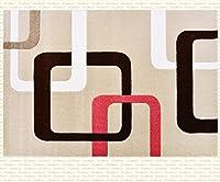 QYSZYG 現代のミニマリストリビングルームカーペット日本と韓国のオフィス研究ザ・コーヒーテーブルパッドベッドルームベッドサイドカーペット じゅうたん (色 : #9)
