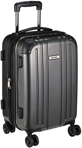 da5788d03c [スポルディング] スーツケース等 保証付 36L 53 cm 3.2kg SP-0704-47 ブラック  □8輪だから走行ラクラク。□ボディはABS樹脂とポリカーボネイトフィルムの3層構造の ...
