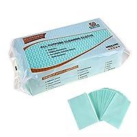 UCOSHIER 多目的非織物-使い捨て布テフロン加工ワイプぼろ家クリーニング布皿布再利用可能な(UA002Green 50個/袋)