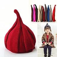 とんがりニット帽 クリスマス キッズ帽子 ねじり帽子 柔らかニット帽 帽子 キャップ どんぐり帽子