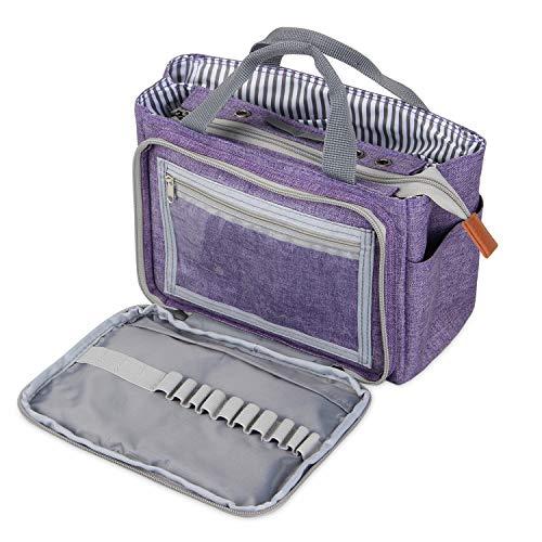 LUXJA トートバッグ 小もの かぎ編み 道具 保管 持ち...