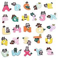 【 フルセット 】iikuru ワッペン アルファベット アイロン 女の子 おしゃれ アップリケ 文字 英字 刺繍 かわいい 幼稚園 保育園 y357