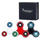 Syourself 三角指スピナー ハンドスピナー フォーカス玩具Spinner Fidget Toy - 1-3分スピン 超耐久性の高い 高速度ミキシングセラミック軸受 - 不安、EDC、 集中、ストレス解消、ADD、 ADHD 子供大人に適用(カラー Multicolor)