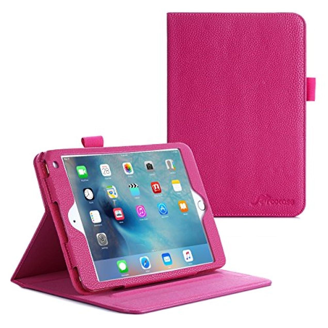 注釈虚偽そんなにiPad Air2 ケース, roocase [Dual View] レザー PU iPad Air2 手帳型 スタンド機能 ケース オートスリープ Apple iPad Air2 [2014 年版] スマートカバー [全5色] マゼンタ