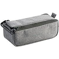 エレコム ポーチ バッグインバッグ アクセサリ/ガジェット収納 BOXタイプ 自由な仕切り付き Mサイズ グレー BMA-OF01GY