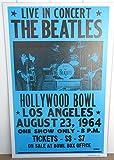 Vintage BeatlesコンサートポスターハリウッドボウルLa 1964