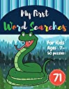My First Word Searches: 50 Large Print Word Search Puzzles : Wordsearch kids activity workbooks Ages 7 8 9 Snake Design (Vol.71) (Kids word search books)