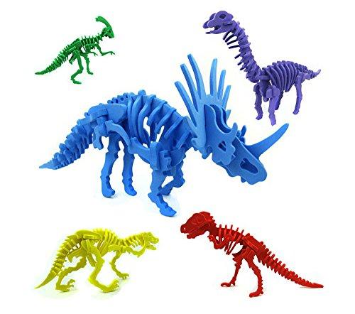 PRISM 夏休み 工作キット 恐竜 模型 5種セット 5色セット