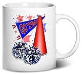 tenacitee Cheerleadingペナントコーヒーマグ、11オンス、ホワイト